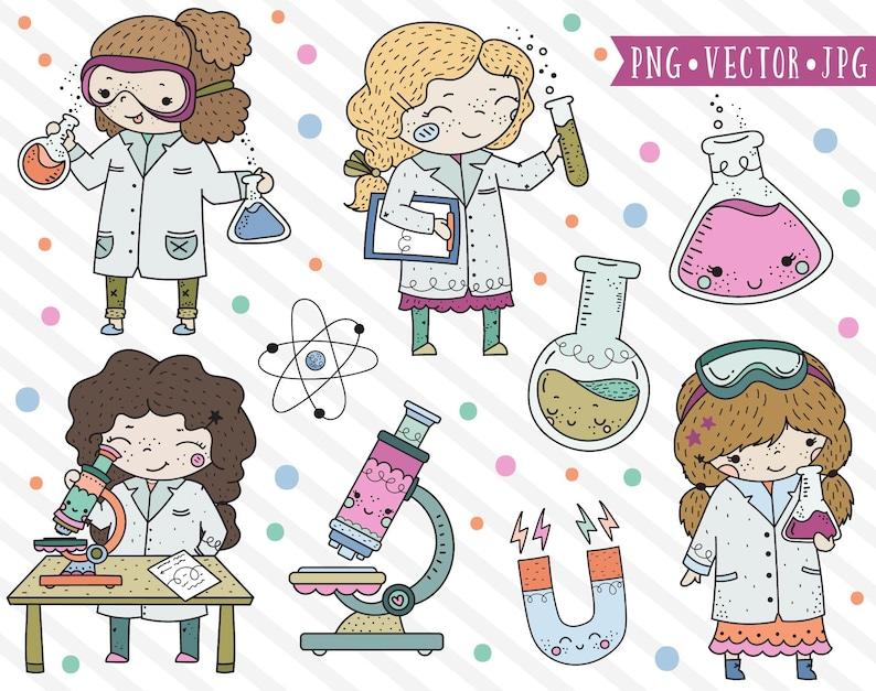 Cute Science Girl Clipart STEM Clipart Stem Girls Clip Art ...