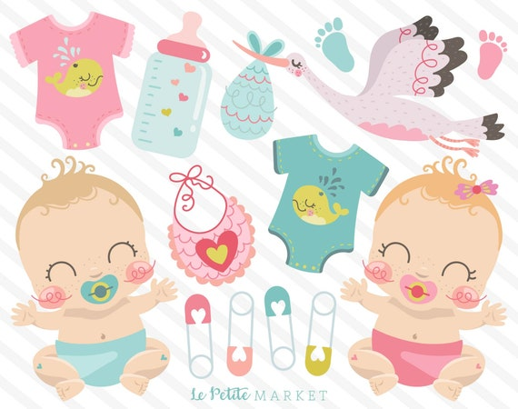 Cute Baby Clipart Images Baby Girl Clipart Baby Boy Clip Etsy