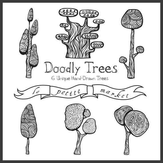 Art Digital Trees Drawing