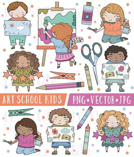 Art Class Clipart Cute School Clipart Kindergarten Clipart ...