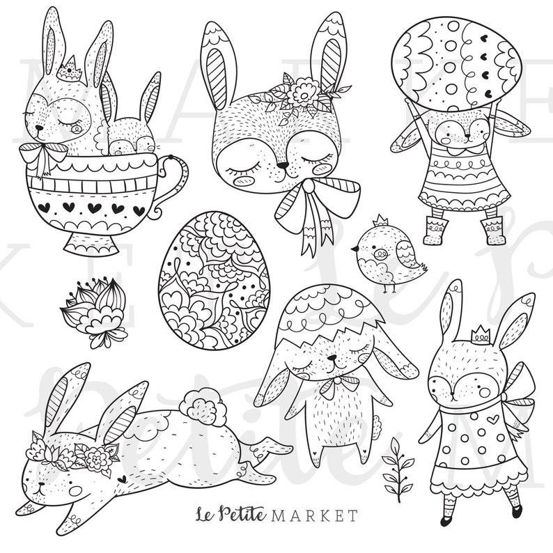 Cute Bunny Rabbit Clip Art Bunny Clip Art Spring Animals ...