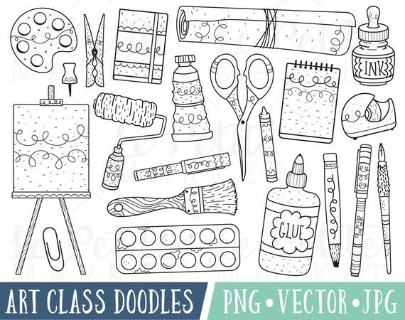 Art Class Doodles Clipart Images Art Doodle Clipart
