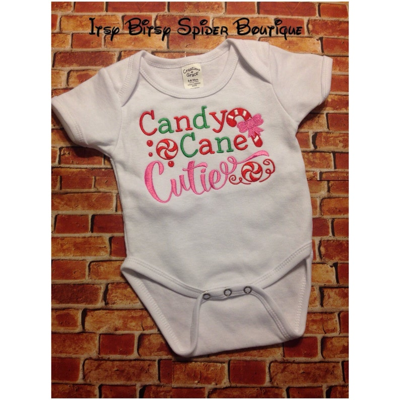 Adorable Candy Cane Cutie baby bodysuit ~ christmas time ~ holiday ~ season ~ present