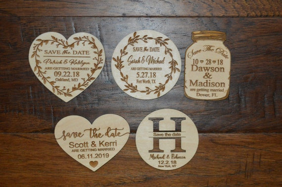 sale price save the date heart magnets save the date wood etsy