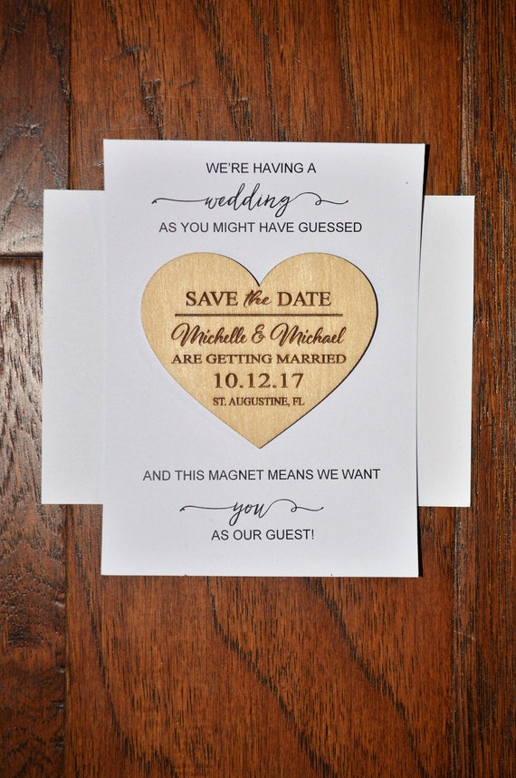 9bfe3193da2a3 Wedding Save The Date Magnet with envelopes, Wood Save The Date Magnet,  Save The Date Magnet, Personalized Save The Date, Wedding Invitation