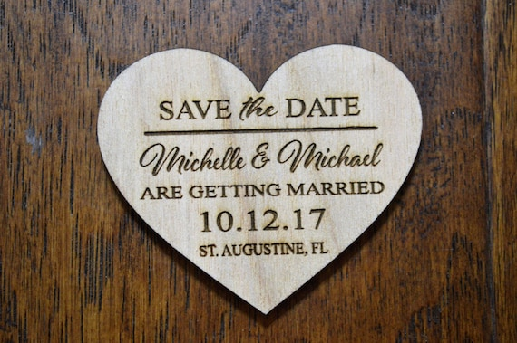sale price wedding save the date magnet wood save the date etsy
