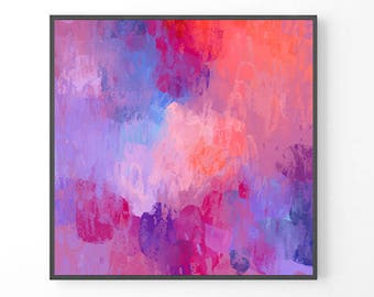 Large Abstract Painting, modern large wall art, purple wall art, print from original painting, purple abstract art print, giclee prints