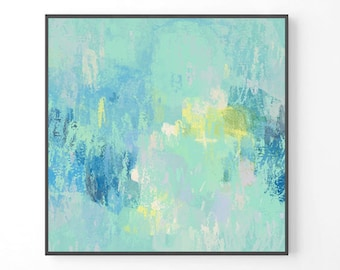 Abstract Painting, large wall art, teal wall art, print from original painting, turquoise blue modern decor, beach prints, coastal decor