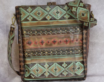 Large All Leather Satchel / Computer Bag / Crossbody Strap / Concealed Carry /Choose with or with out the Holster Pocket