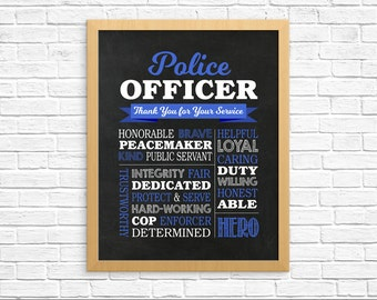 Police Officer Gifts Etsy