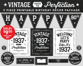 Aged To Perfection Birthday Decor