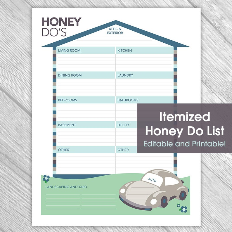 image about Honey Do List Printable named Printable Editable Honey Do Listing - Elements toward Do Record, Household Business enterprise, Property Fix, Immediate Obtain, Printable