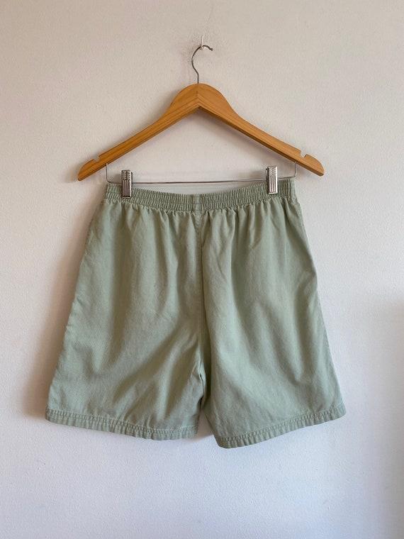 Vintage 90's Basic Editions sage green elastic wa… - image 3