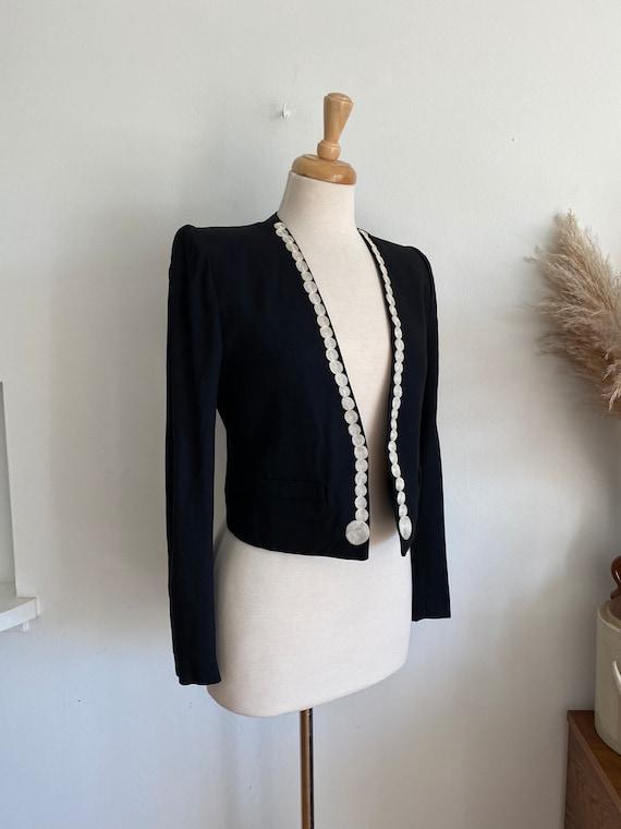 Vintage 90's Sonia Rykiel Paris embroidered black