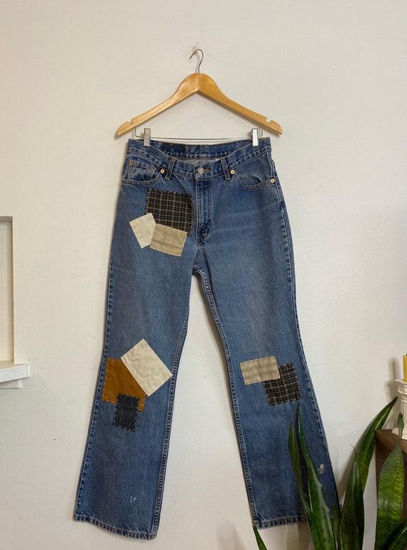 Vintage women's patchwork white tag Levi's jeans s