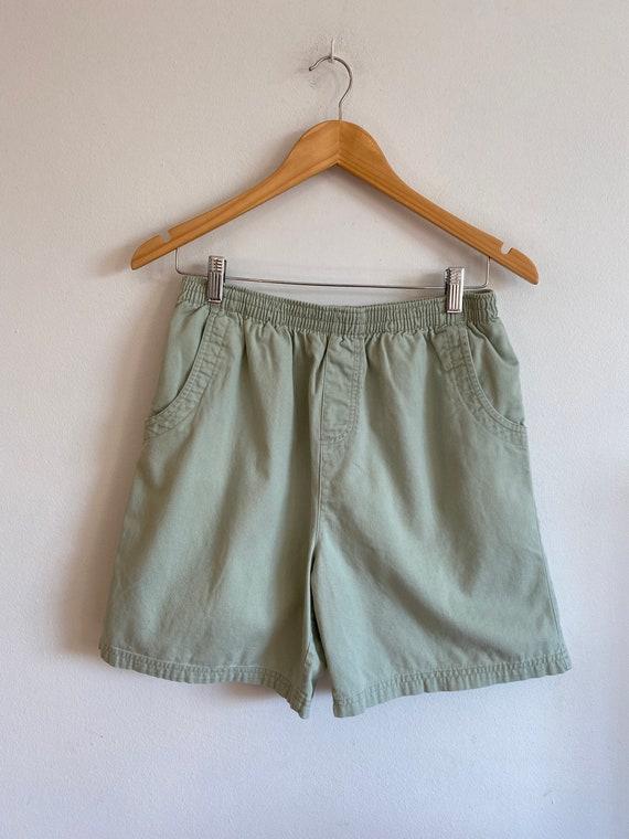Vintage 90's Basic Editions sage green elastic wa… - image 1