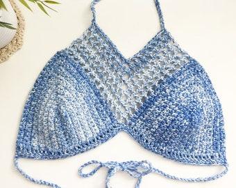 SALE | Festival Top | Crochet Top  | Denim Blue