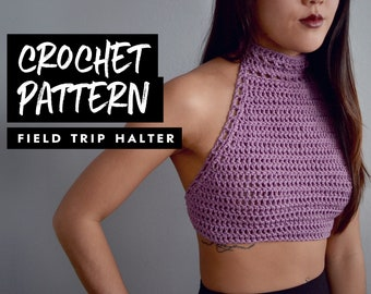 Crochet Pattern | Halter Crop Top | Festival Top