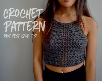 Crochet Pattern | Crochet Crop Top | Festival Outfit | Lace Up Top