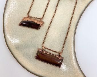 Carnelian Necklace | Copper Electroformed Jewelry | Boho Witchy Necklace | Handmade OOAK Jewelry