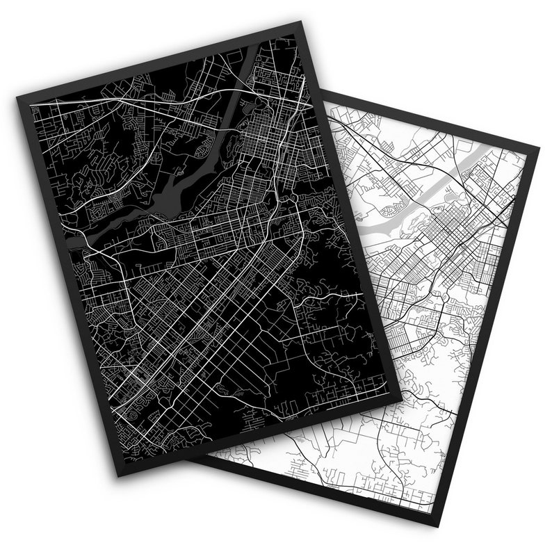 Riverside City Street Map, Riverside California USA, Modern Art Print,  Office Decor, Home Decor, Riverside Decor, Riverside Map, Man Cave