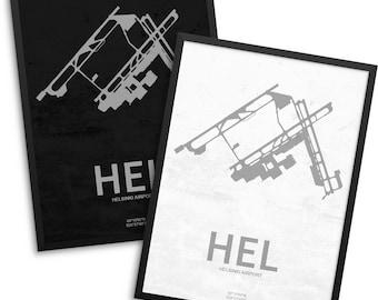HEL Airport, Helsinki Airport, Helsinki Finland, HEL Airport Poster, Helsinki, Vantaa, Vantaa Finland, Helsinki Airport Poster, HEL, Finland