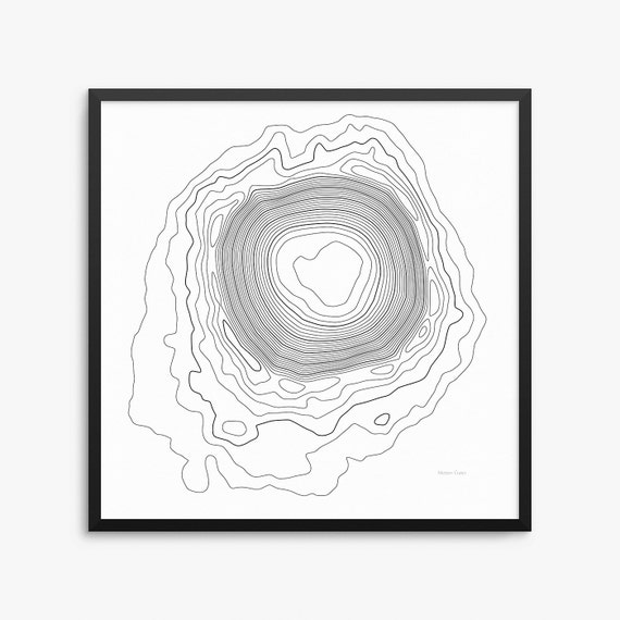 Meteor Crater Arizona Map.Meteor Crater Poster Meteor Crater Arizona Meteor Crater Map Etsy