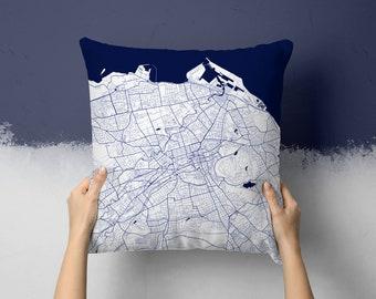 Edinburgh Scotland Street Map Throw Pillow