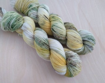 PINEAPPLE Hand Dyed Speckled Fingering Sock Yarn! (Various Bases)