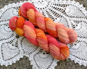 SUNSET BOULEVARD Hand Dyed Fingering Variegated Sock Yarn! So Summery!