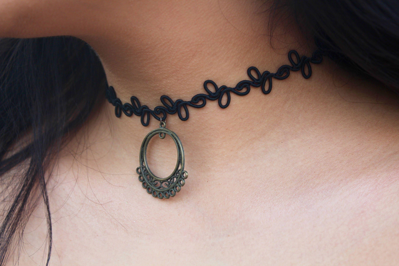 Chic Lace Chocker Girls Tassel Tattoo Velvet Choker Necklace Statement Jewelry