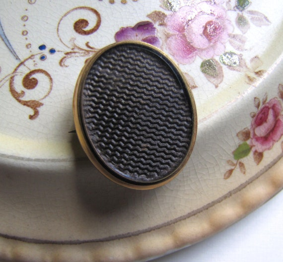 Victorian Mourning Brooch, Hair Jewelry, Mourning