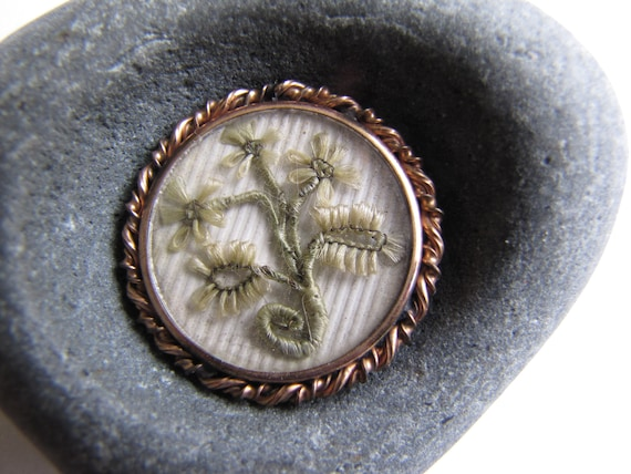 Unusual Mourning Brooch, Hair Jewelry, Mourning Ha