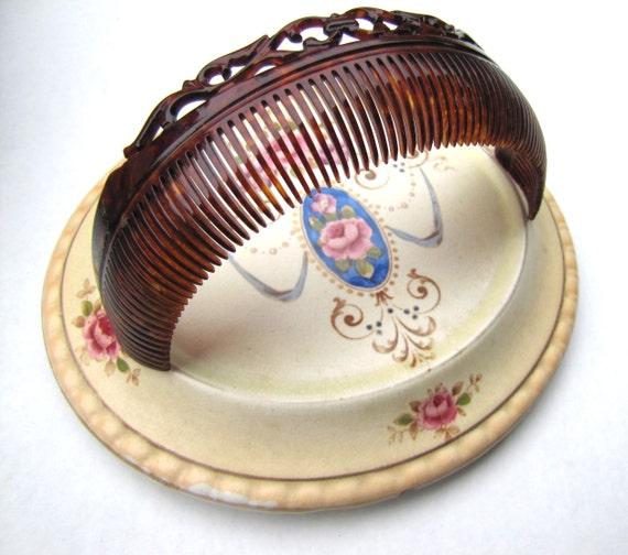 Antique Faux Tortoiseshell Backcomb, Antique Hair