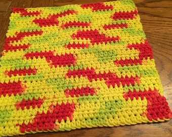 Crocheted Dishcloths Peace