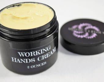 Working Hands Cream, cream for cracked skin, dry hand cream, Organic hand cream, Vegan skin care, healing hand cream