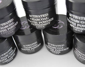 Activated Charcoal Tooth Powder, natural teeth whitening, bleaching alternative, naturally whiten teeth, Dead Sea Salt, Essential Oils