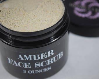 Amber Face Scrub, facial care, organic skin, spa, vegan skin care