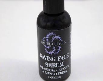 Saving Face Serum, anti-aging serum, mature skin, dry skin, organic oils, vegan, herbal extracts