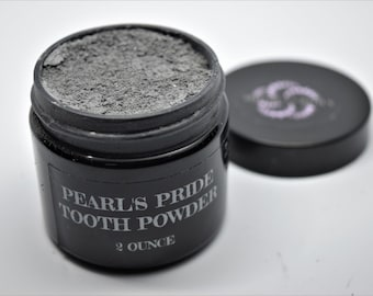 Pearl's Pride Tooth Powder, sensitive teeth, unsalted, baking soda free, sensitive gums, Activated Charcoal, natural teeth whitening, clove
