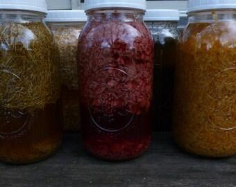 Individual Herb Infused Vinegar Hair Rinse, herbal hair rinse, acv hair conditioner, Vinegar conditioner, organic herbs, detangler