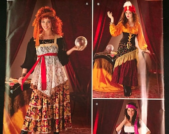 Elegant Simplicity 0808 Gypsy Fortune Teller Halloween Costume Sewing Pattern Sz  6 12