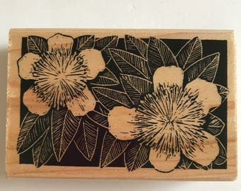 Rubber Stampede Floral Woodcut Rubber Stamp Pincushion Flower A2259F