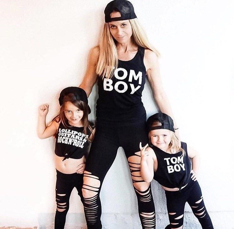 Rockstar Mommy and Me matching leggings Shredded leggings Cool  965f6ff01f