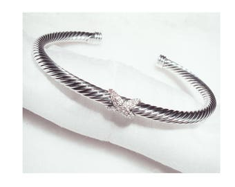 David Yurman - dy - The X Collection X Bracelet with Diamonds
