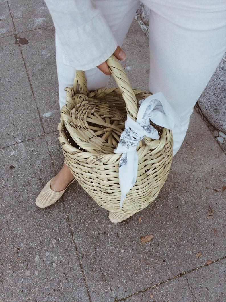 d00695c969 Straw basket bag Jane Birkin beach bag tote egg basket