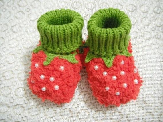 Erdbeer Baby Häkeln Süßes Babymädchen Häkeln Socken Schuhe Etsy