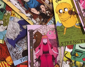 Adventure Time Tarot matt vinyl stickers