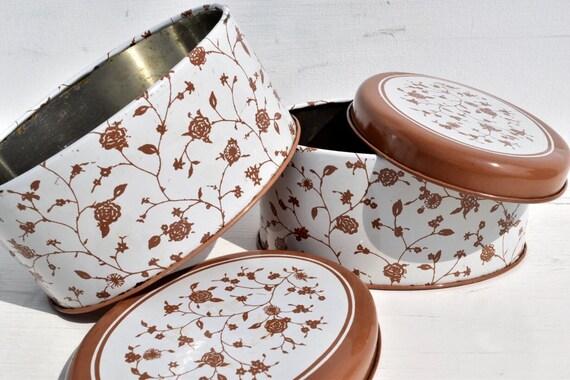Bidon fer blanc Vintage ensemble pot contenant