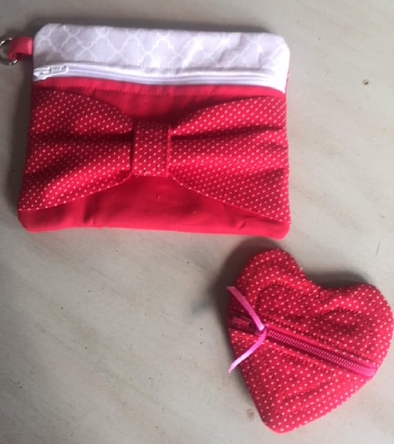Valentines Makeup Bag and Coin Purse Set